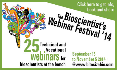 The Bioscientist's Webinar Festival '14 graphic