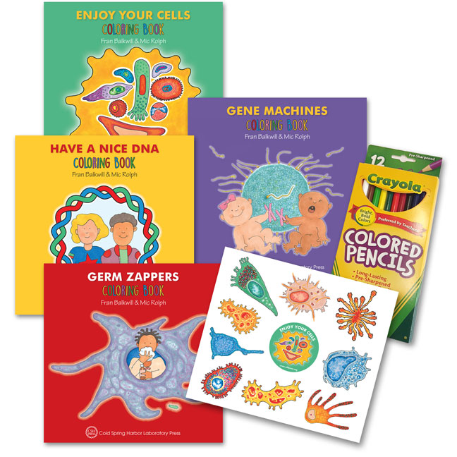 Coloring Book 4 : Enjoy your cells series coloring books 4 book gift set