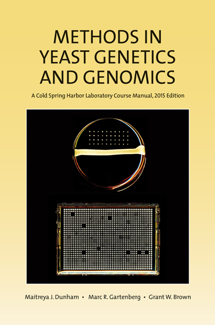 Methods in Yeast Genetics and Genomics, 2015 Edition: A CSHL Course Manual cover image