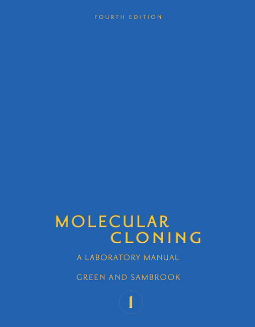 molecular cloning a laboratory manual fourth edition rh cshlpress com molecular cloning a laboratory manual sambrook pdf free download sambrook j molecular cloning a laboratory manual