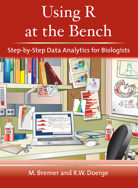 Using R at the Bench: Step-by-Step Data Analytics for Biologists cover image