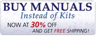 Buy Manuals Instead of Kits � Now at 30% off graphic